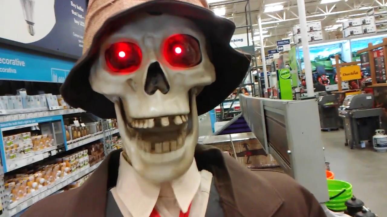 lowes halloween life size skeleton couple - youtube