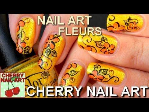 nail art tuto fleurs peinture acrylique youtube. Black Bedroom Furniture Sets. Home Design Ideas