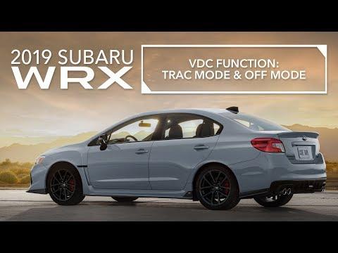 2019 Subaru WRX – Vehicle Dynamics Control (VDC) – Traction Mode, VDC OFF