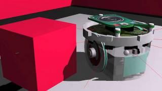 robot simulator an e puck robot following a line webots