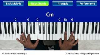 Pukarta Chala Hoon Main Piano Tutorial Melody | Chords | Arpeggios