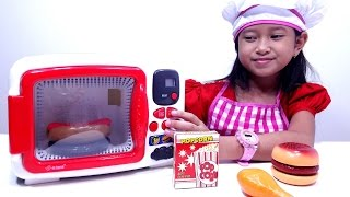 Mainan MICROWAVE Oven Ovenan 💖 Memasak Hamburger Popcorn Hotdog Chicken 💖 Let's Play Jessica