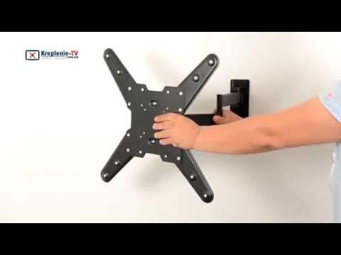 видео: itech ptrb24 - настенное наклонно-поворотное крепление для телевизора диагональю 40-70 дюймов.