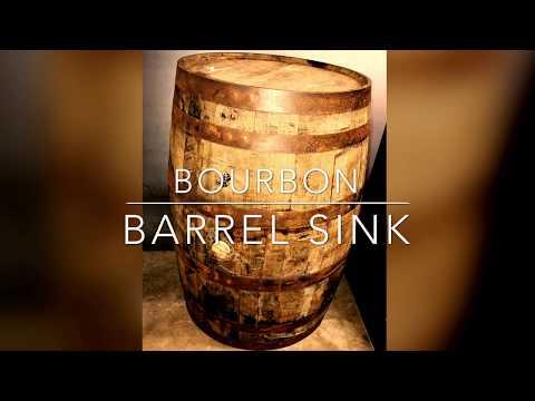 DIY Bourbon Barrel Sink Build