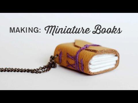 Binding a Miniature Book, Long Stitch and Chain Link (Coptic Stitch)