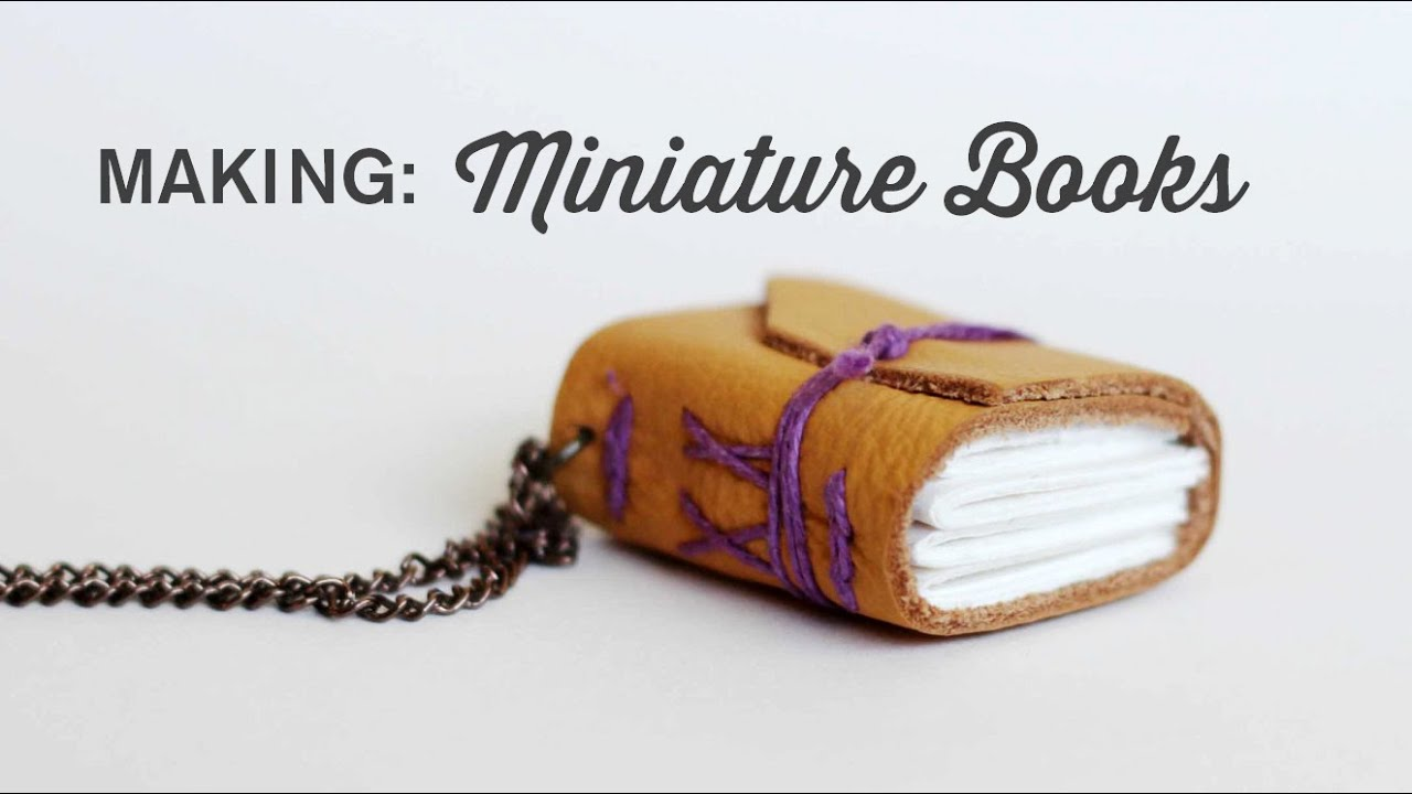 Binding A Miniature Book Long Stitch And Chain Link