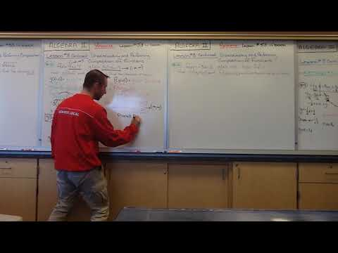 Algebra I-Lesson 8 Part #4-Understanding and Performing Composition of Functions and Their Domains
