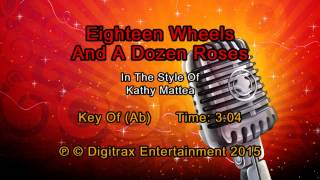 Kathy Mattea - Eighteen Wheels And A Dozen Roses (Backing Track)