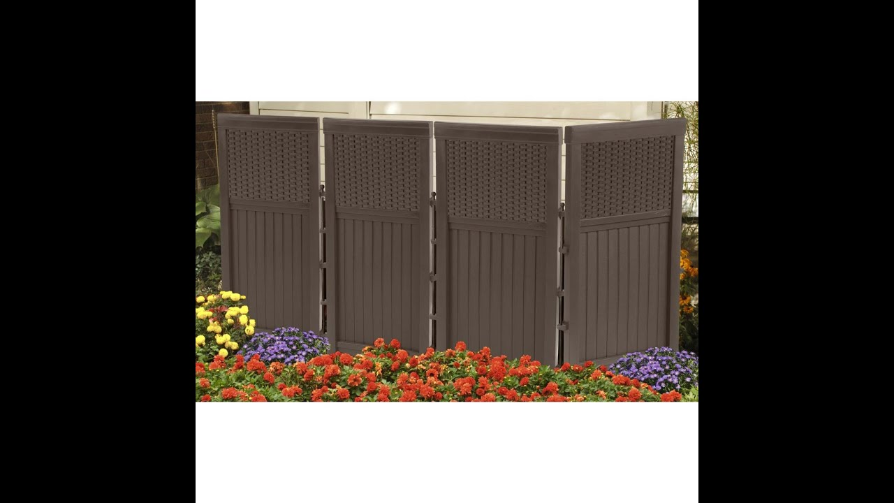 4 Panel Resin Wicker - Suncast FSW4423, Outdoor Screen ...