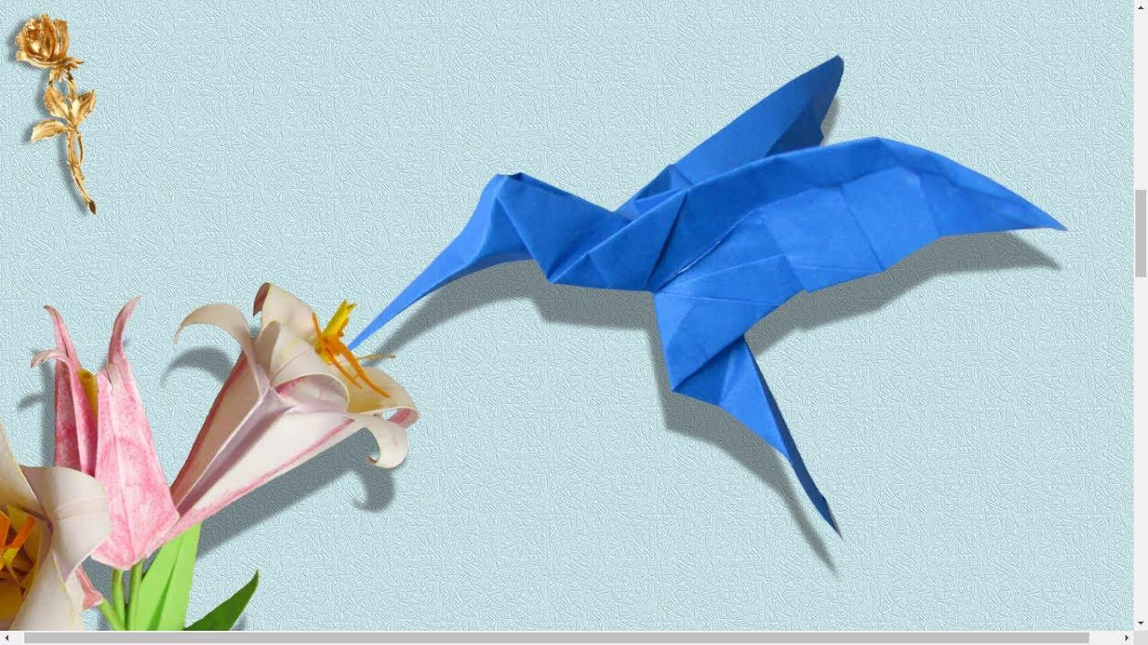 Origami Colibri Youtube