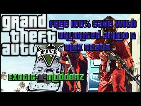 Grand Theft Auto V: 100% Save With Unlimited Money ammo and Stats