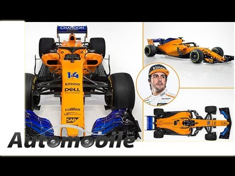 McLaren reveal eye-catching orange and blue F1 car for 2018 season   by Automobiles