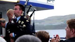 Cowal 2013 - Field Marshal Montgomery Pipe Band on the Ferry