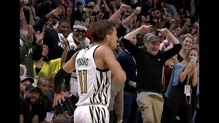 """Trae Young Sinks Game-Winner, Breaks out LeBron's """"Silencer"""" Celebration vs. Sixers"""