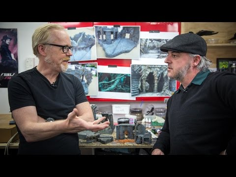 Adam Savage at Weta Workshop's Model Painting Shop!