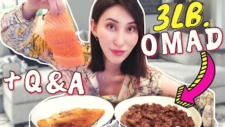 Surf & Turf Mukḃang + Q&A (NO Eating Sounds) // Carnivore Diet OMAD Steakandbuttergal