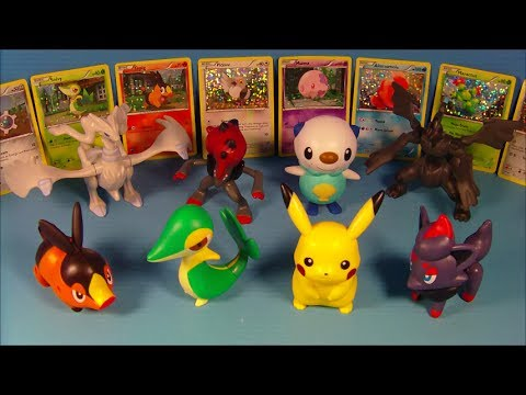 2011 POK��MON BLACK and WHITE SET OF 8 McDONALD'S HAPPY MEAL KIDS TOY'S VIDEO REVIEW