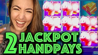 🐖2 JACKPOT HANDPAYS🐖 on High Limit Piggy Bankin'!