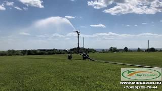 Полив полей  по производству рулонного газона