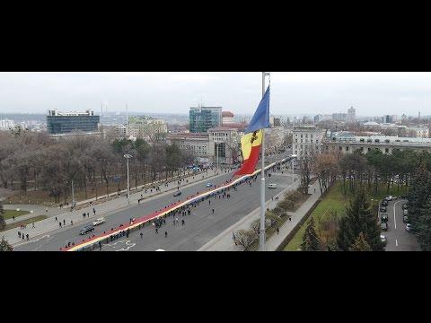 Ziua României la Chișinău, filmată cu drona