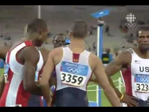 Jeremy Wariner 400m Final, 44.00 - 2004 Athens Olympics