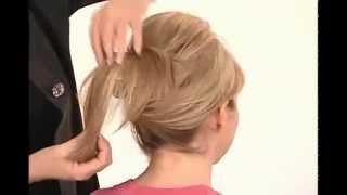 как уложить объем волос заколкой Скарлетт Bumpits