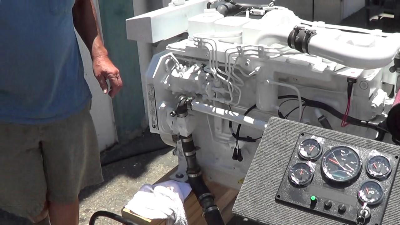 cummins marine 6bt 5 9 210 hx cooled engine test for. Black Bedroom Furniture Sets. Home Design Ideas