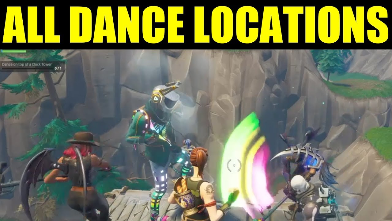 fortnite dance on top of location guide clock tower pink tree porcelain throne week 4 guide - where is the porcelain throne in fortnite