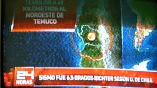 TEMBLOR CONCEPCION 02/11/11 EARTHQUAKE CHILE FEBRUARY 27 LIVE FOOTAGE NEWS COVERAGE