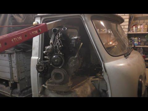 УазТех: Установка om617 на стандратный УАЗ 452 - ГОЛОВАСТИК, ЧАСТЬ 1