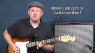 Learn Pearl Jam inspired guitar rhythms chords pentatonic licks Yellow Ledbetter style lesson