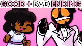 All Endings: The Date Week Full Week + Bonus Video - Friday Night Funkin'