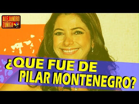Que fue de Pilar Montenegro!! Actriz y cantante