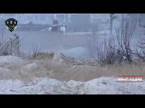 """Syria East Ghouta - Syrian Army Storming Hawsh ad Dawahirah & breaking the """"line of death"""""""