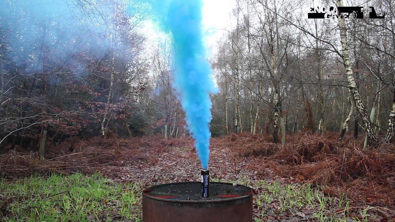 Blue Wire Pull Smoke Grenade WP40