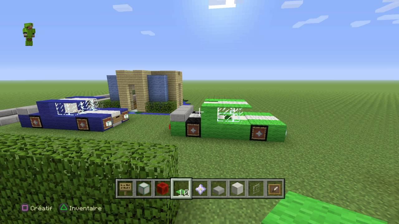 minecraft tuto voiture de luxe youtube. Black Bedroom Furniture Sets. Home Design Ideas