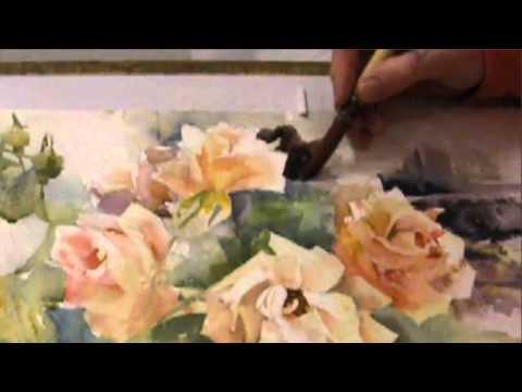 Ev Hales -  Painting Roses in Watercolor, Stage 1