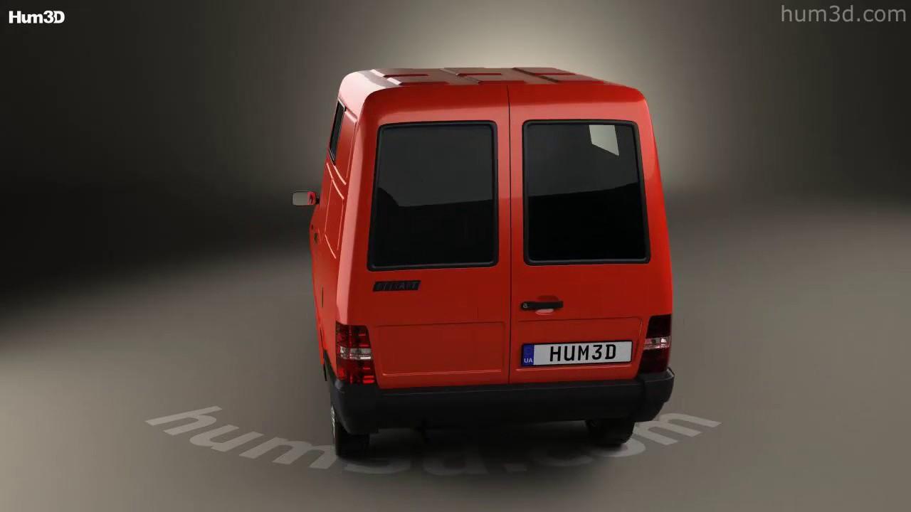 Fiat Fiorino Panel Van 1988 Model By Hum