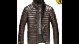 Quilted Leather Down Jacket CW860035 www.cwmalls.com