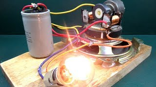 How to make free energy with speaker magnet & motor - New Technology a