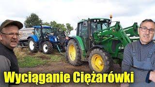 Wyciąganie Ciężarówki Na 2 Traktory ! ☆Błoto Na Polu a Tu 5 Tirów z Wapnem!