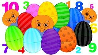 10 Huevos Sorpresa Gigantes de Colores con Elefantes | Aprende Colores con Plim Plim