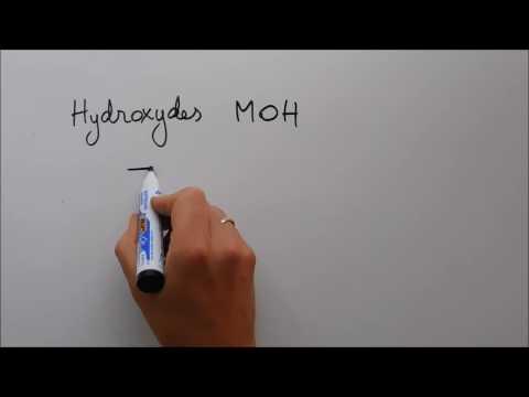 Nomenclature 1 - Les hydroxydes