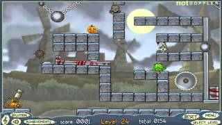 Roly-poly Cannon: Bloody Monsters Pack 2 Levels 21-30 Walkthrough
