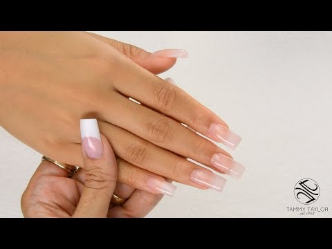 ❤ Chit Chat  Square Sculptured Nails  How To  Tammy Taylor