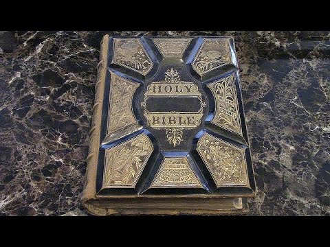 Antique Old Holy Bible Old and New Testaments
