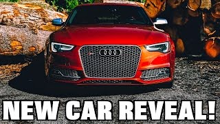 buying a volcano red audi s5 new car reveal
