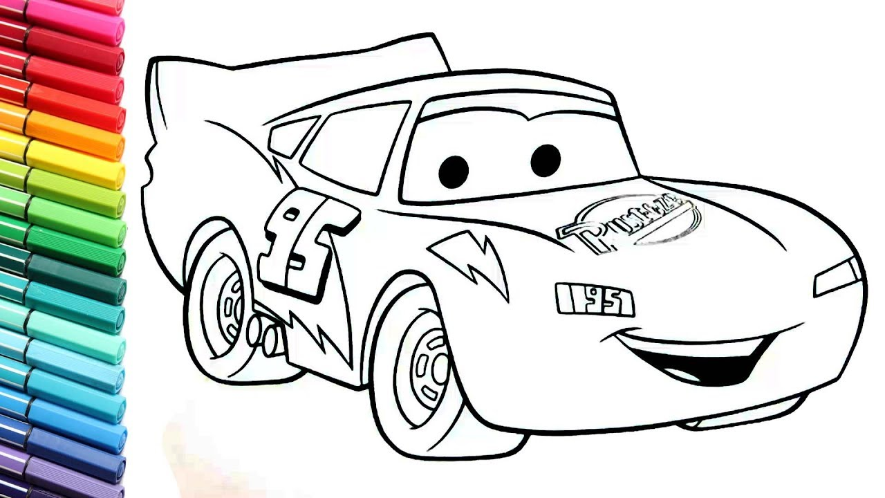 Cars Lightning McQueen Color Pages collection - How to Draw Cars 3 ...