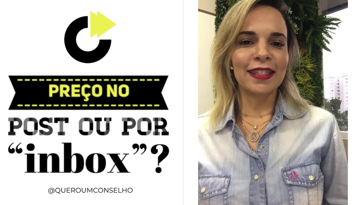 """PREÇOS NO INSTAGRAM: No post, nos comentários ou por """"inbox""""???"""