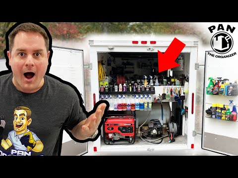 MOBILE DETAILING TRUCK SETUP!  Products, Tools And Equipment !!
